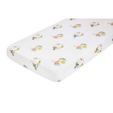 Menagerie Cotton Percale Flat Crib Sheet