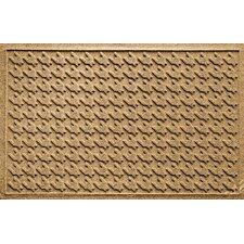 Aqua Levi Houndstooth Doormat