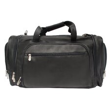 """20"""" Leather Multi-Compartment Carry-On Duffel"""