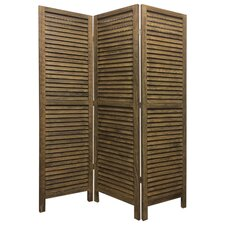 67 x 48 Shutter 3 Panel Room Divider by Screen Gems