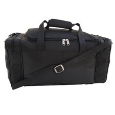 """19.5"""" Small Leather Carry-On Duffel"""