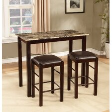brando 3 piece counter height dining set - Dining Room Table Height
