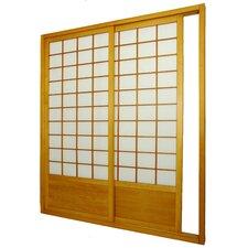 83 x 73.5 Single Sided Sliding Door Shoji Room Divider by Oriental Furniture