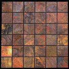 "11.88"" x 11.88"" Copper Metal Tile in Multi"