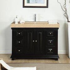 48 Single Integrated Bathroom Vanity Set by Silkroad Exclusive