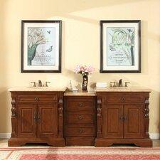 90 Double Sink Bathroom Modular Vanity Set by Silkroad Exclusive