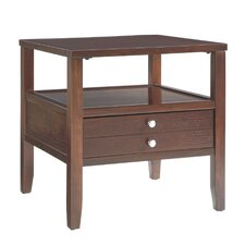 Millville 2 Drawer End Table by Three Posts