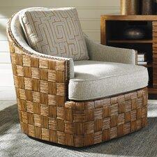 Island Fusion Nagano Swivel Barrel Chair by Tommy Bahama Home