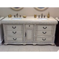 Caroline 72 Double Bathroom Vanity Set by B&I Direct Imports
