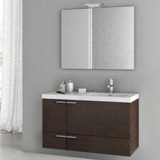 New Space 39.2 Single Bathroom Vanity Set with Mirror by ACF Bathroom Vanities