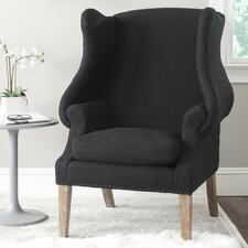 Kameron Club Wing back Chair by One Allium Way