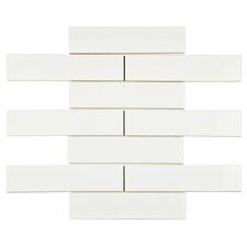 "Retro 1.75"" x 7.625"" Soho Subway Porcelain Field Tile in Glossy White"