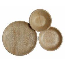 75 Piece Wood Dinnerware Set