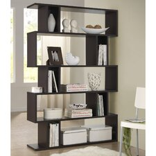 Baxton Studio Goodwin 5-Level 70 Accent Shelves Bookcase by Wholesale Interiors