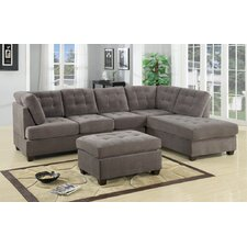 Aedesia Waffle Reversible Chaise Sectional