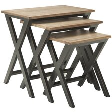 3 Piece Edgecomb Nesting Table Set by Loon Peak