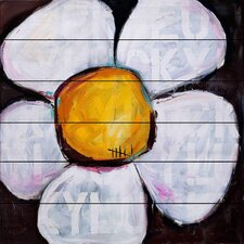 Lucky Daisy' by Tori Campisi Painting Print on White Wood by Marmont Hill