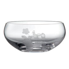 Wild Strawberry Glass Serving Bowl