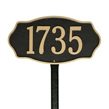 Hampshire 1-Line Lawn Address Sign
