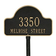 Lexy 2-Line Lawn Address Sign