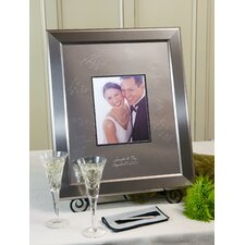 quick view personalized titanium guest book frame