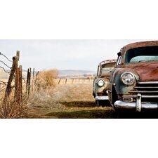 Schild Texan Cars, Fotodruck