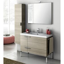 New Space 39.2 Single Bathroom Vanity Set with Mirror by ACF Bathroom Vanities