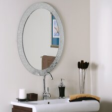 Oval Crystal Wall Mirror