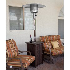 Tall Square 41,000 BTU Propane Patio Heater with Wheels