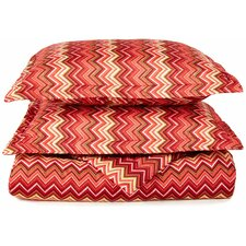 1800 Series Collection Reversible Duvet Cover Set
