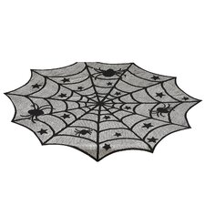Hocus Pocus Spider Web Lace Topper Tablecloth