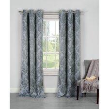 Ava Damask Blackout Grommet Curtain panels (Set of 2)