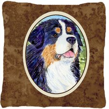 Water Resistant Dog Square Indoor/Outdoor Throw Pillow
