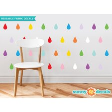 Raindrop Fabric Wall Decal (Set of 40)