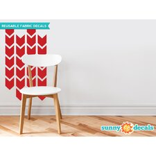 Chevron Arrows Fabric Wall Decal (Set of 26)