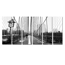 Brooklyn to NYC 6 Piece Photographic Print on Canvas Set