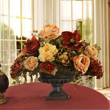 Quick View Magnolia And Peony Grande Silk Floral Centerpiece By Floral Home Decor