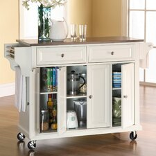 Pottstown Kitchen Island with Stainless Steel Top