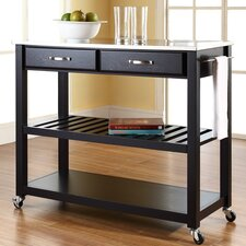 Bernice Kitchen Island with Stainless Steel Top