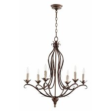 Flora 6-Light Candle-Style Chandelier