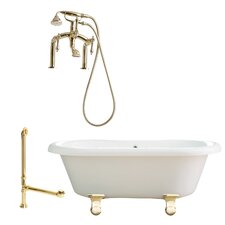 "Portsmouth 60"" x 31"" Dual Soaking Bathtub"