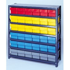 Open Shelving Storage System with Euro Drawers by Quantum Storage