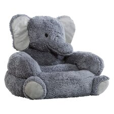 Elephant Plush Character Kids Novelty Chair