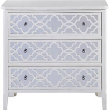 Amanda Mirrored 3 Drawer Chest by House of Hampton