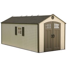 8 ft. W x 17.5 ft. D Metal Storage Shed