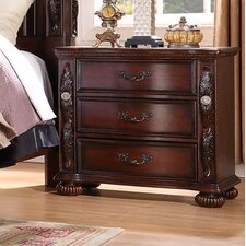 Verona 3 Drawer Nightstand by Fairfax Home Collections