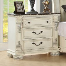 Alexandra 3 Drawer Nightstand by Fairfax Home Collections