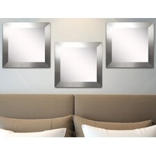 Ava Silver Wide Wall Mirror (Set of 3)