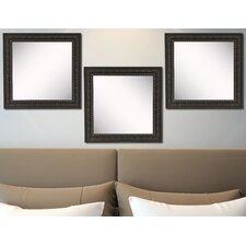 Ava Dark Embellished Wall Mirror (Set of 3)