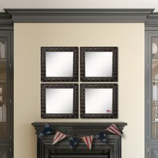 Ava Feathered Accent Wall Mirror (Set of 4)